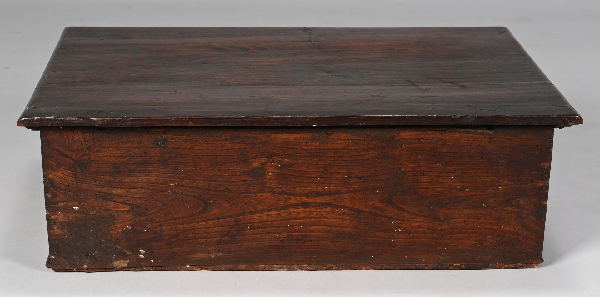 Lot 643: Carved Oak English Bible Box