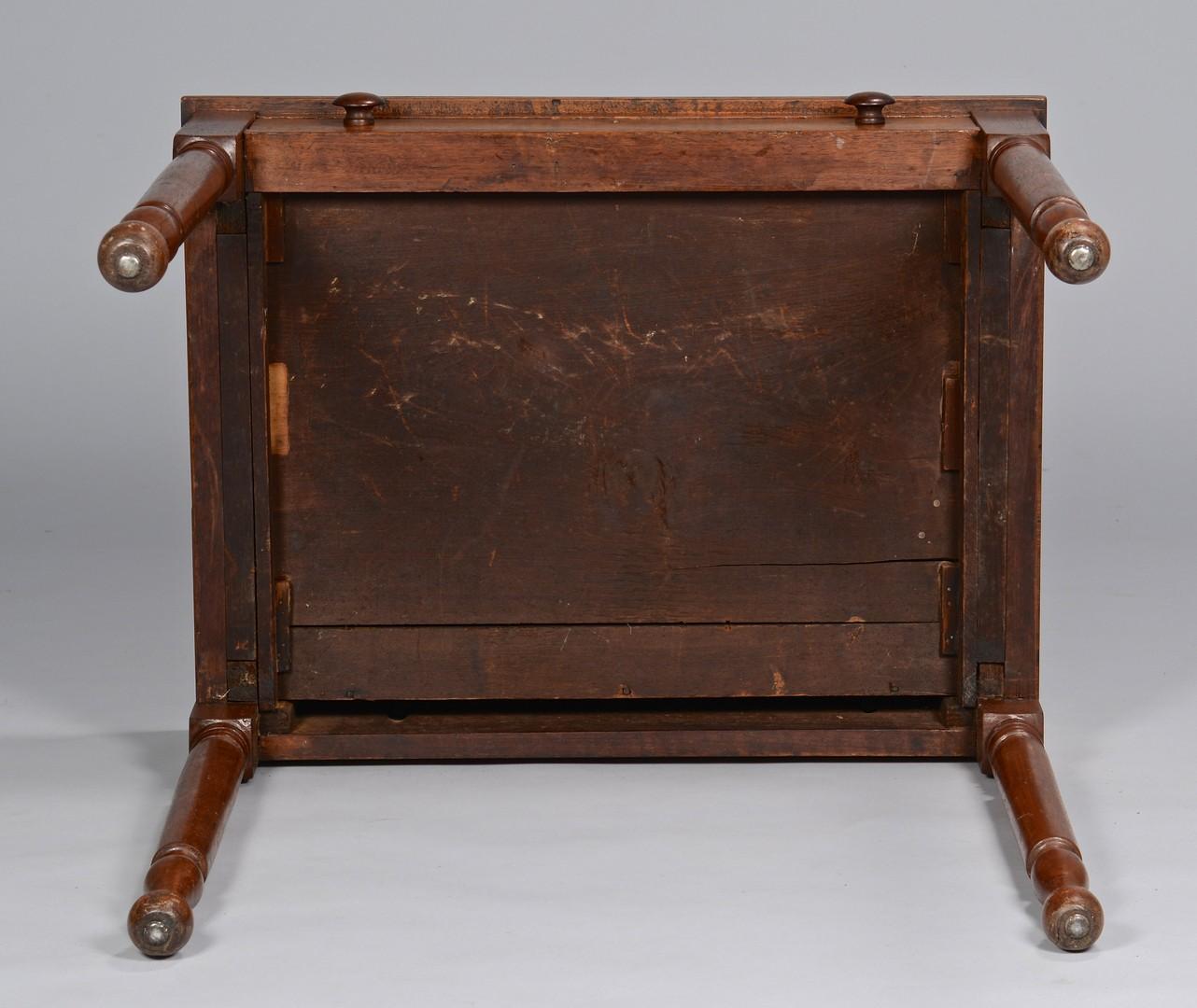 Lot 644: TN walnut 1-drawer table