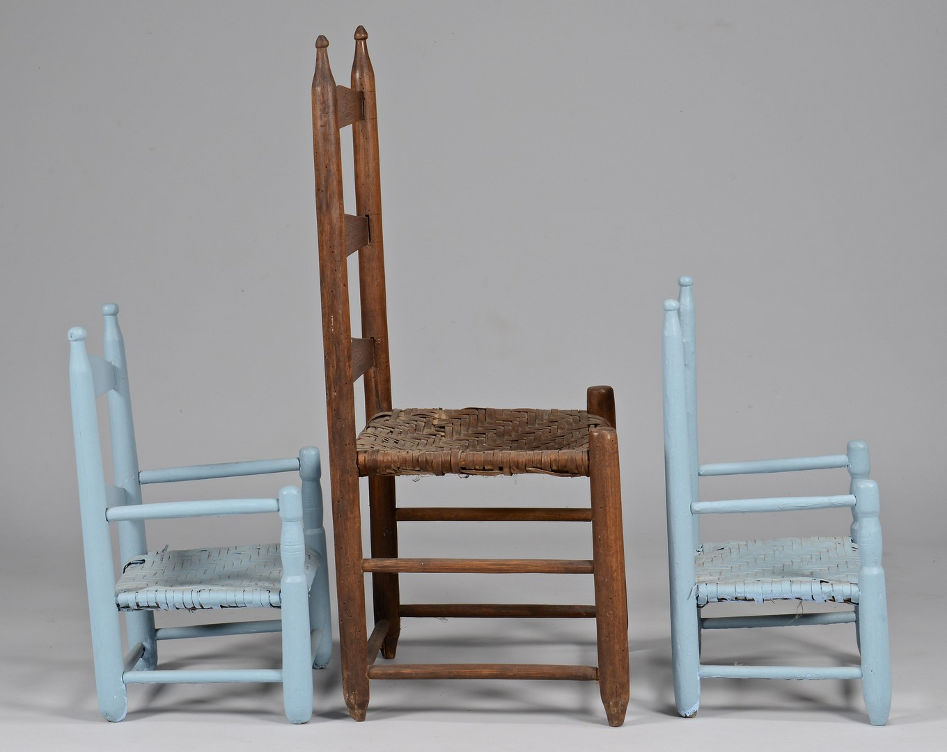 Lot 645: 3 East TN Chairs incl. Pr. Child's Chairs