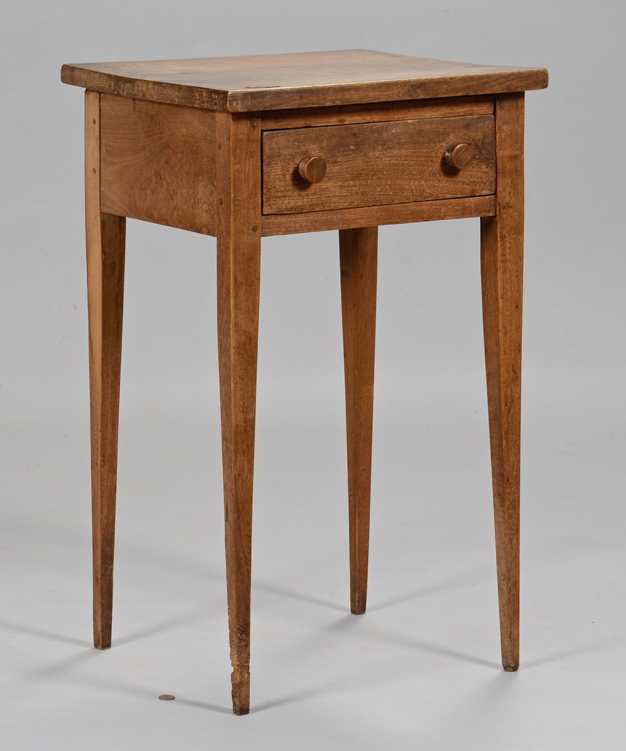 Lot 647: East TN Hepplewhite Walnut Stand & Southern Related Book