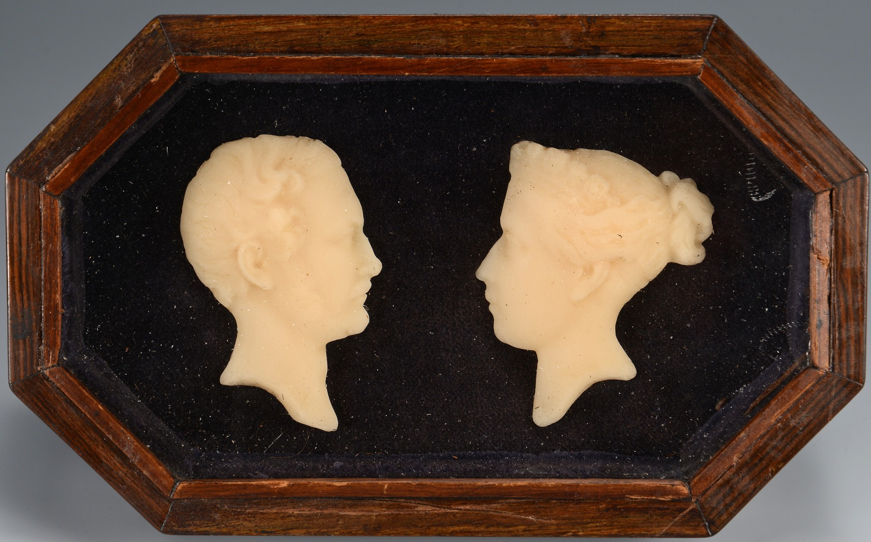 Lot 648: 2 Framed Wax Bust Portraits