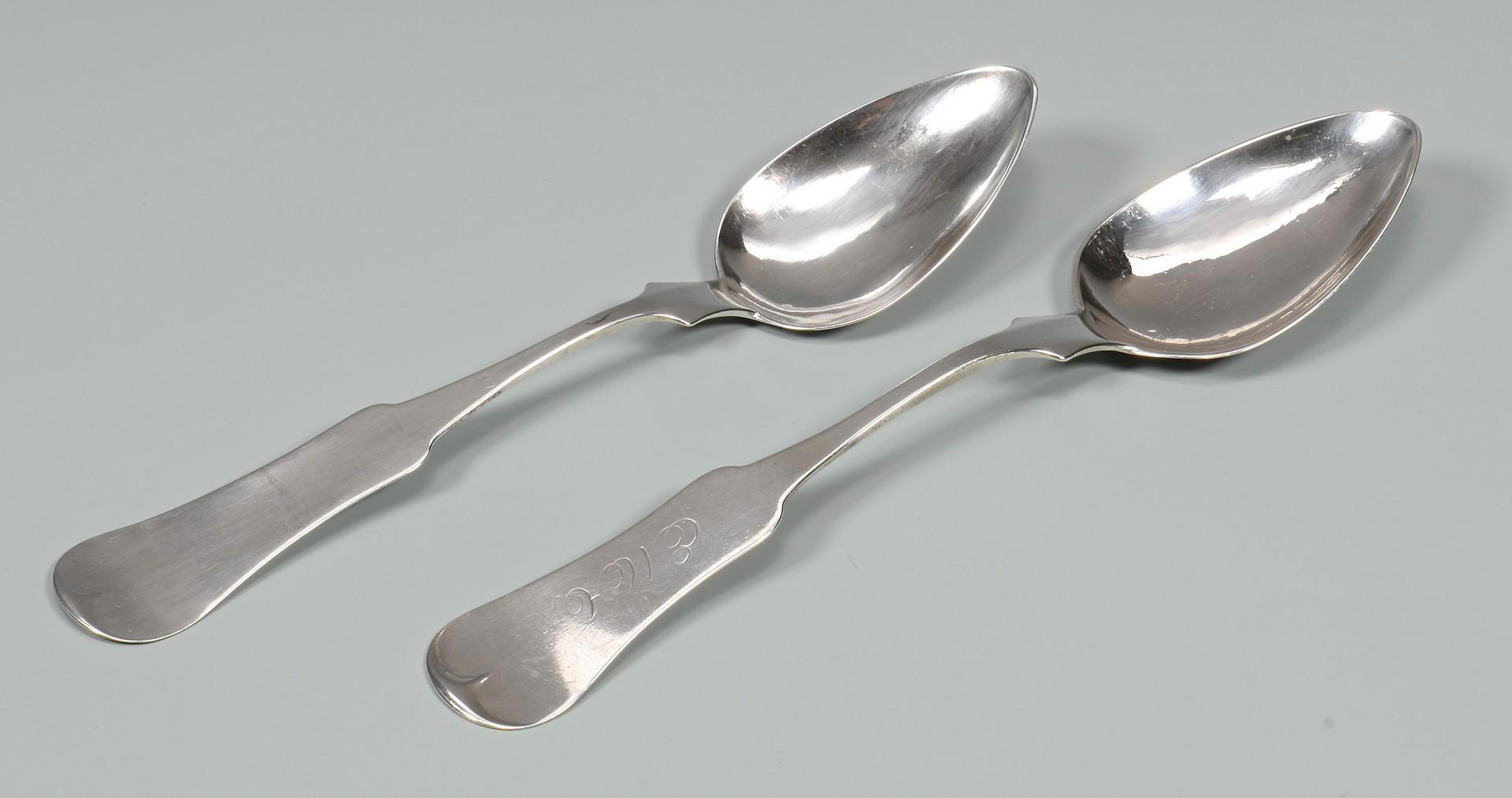 Lot 64: 12 Memphis Coin Silver Spoons
