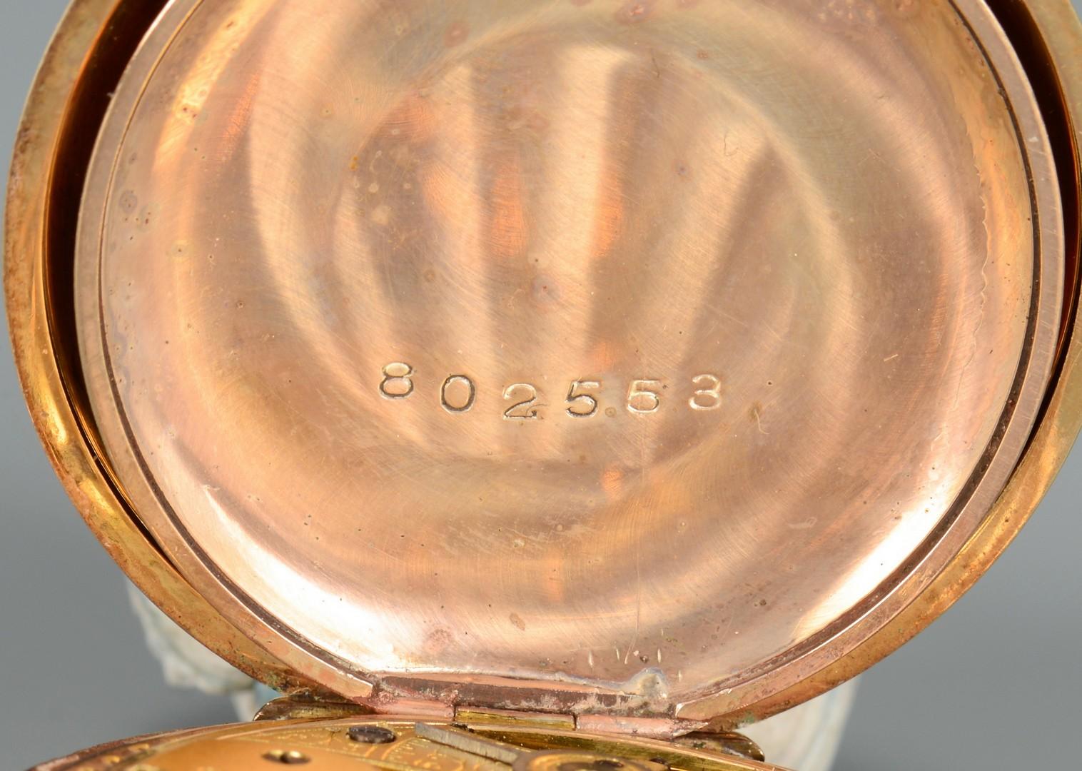 Lot 656: Waltham 14K Gold Pocket Watch