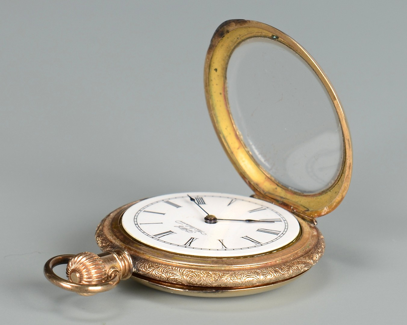 Lot 656: Waltham 14K Gold Pocket Watch