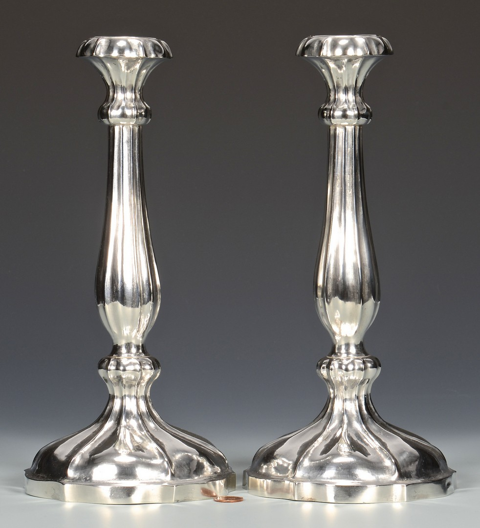 Lot 65: Silver Candlesticks, Memphis mark
