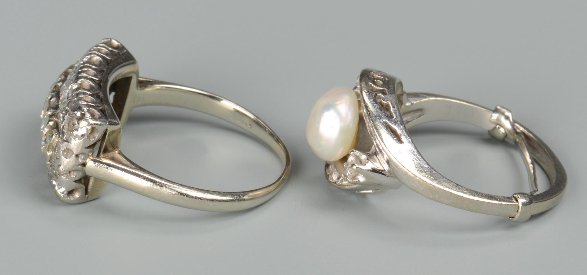 Lot 662: Two 14k Vintage Diamond Rings