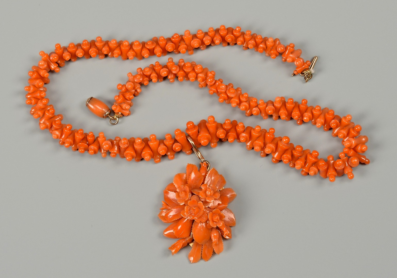 Lot 663: Victorian Coral Parure
