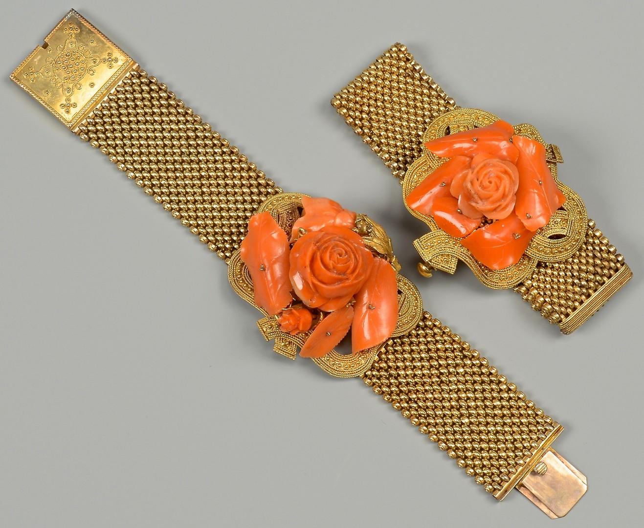 Lot 664: 2 Victorian Coral Bracelets