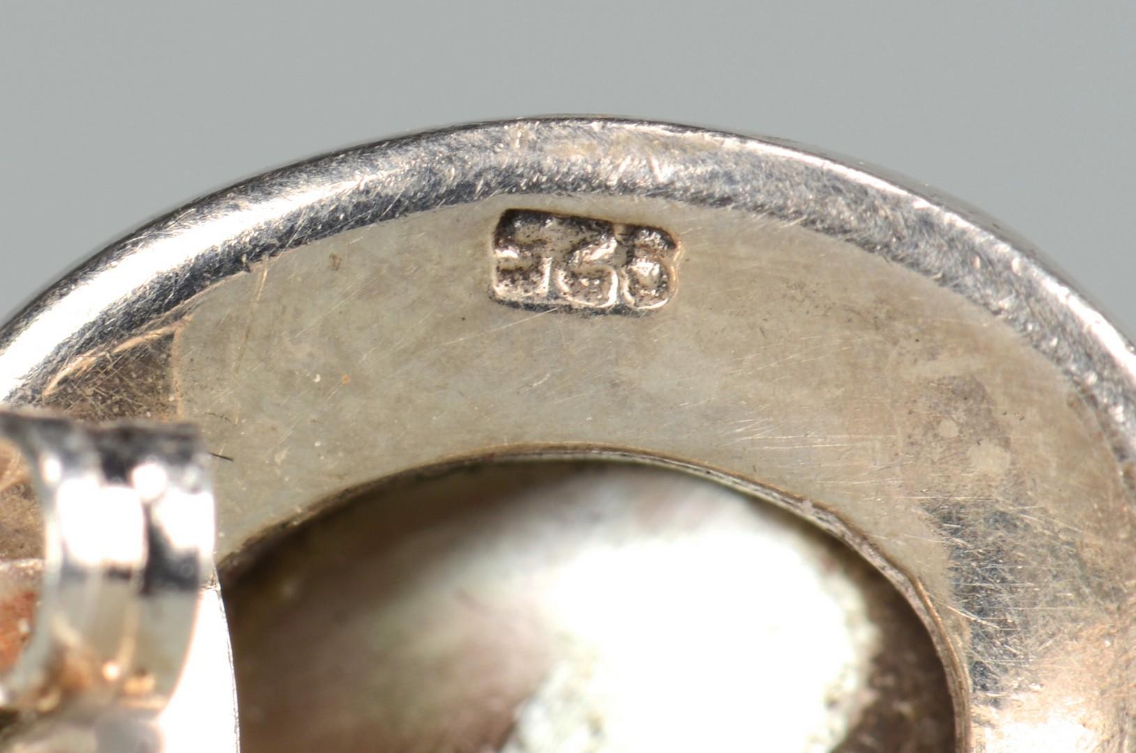 Lot 668: 14k TN Pearl & Sterling silver jewelry