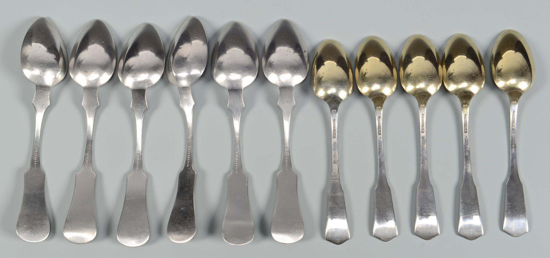 Lot 66: 11 Coin Spoons, Miss. & Tenn. interest