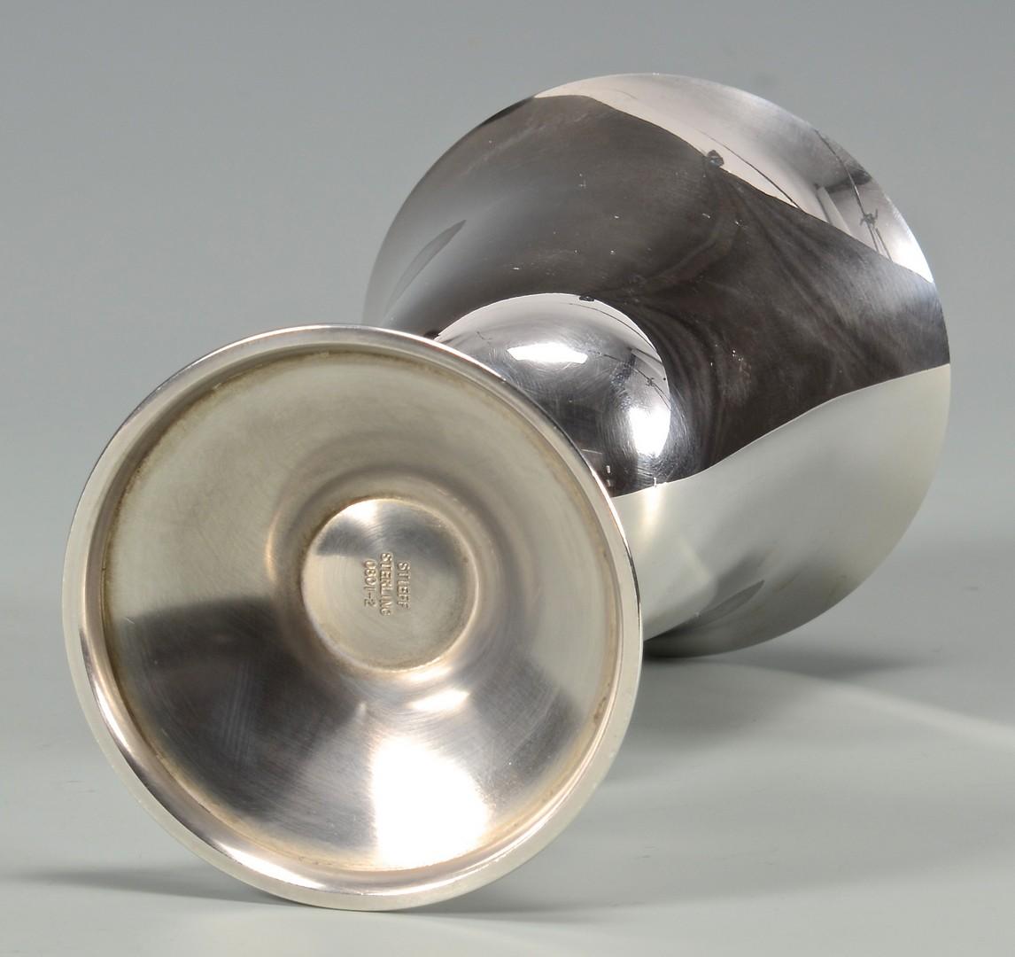 Lot 671: 5 Kirk Steiff Sterling Silver Goblets