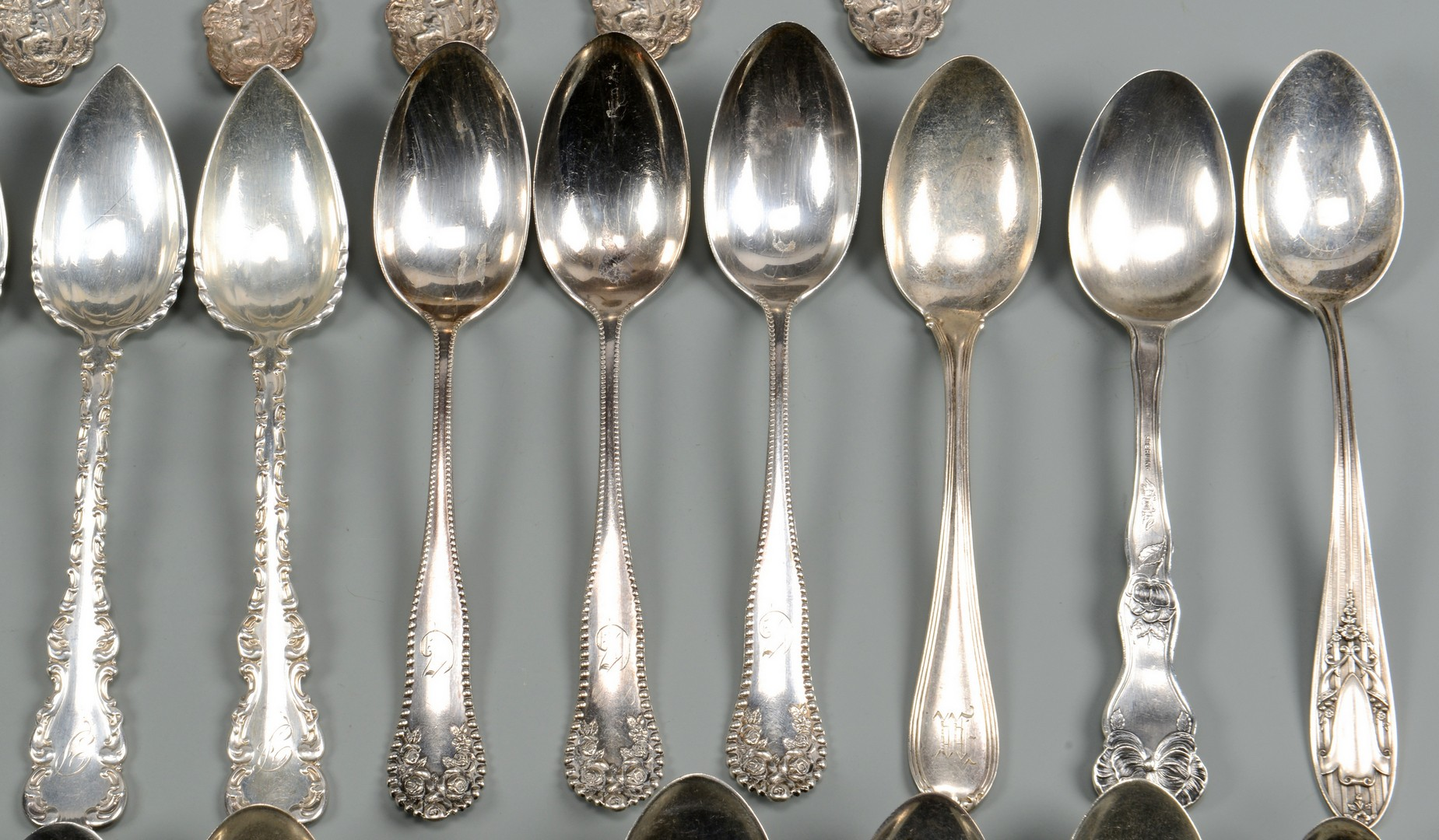 Lot 674: 47 pcs Assorted Sterling Flatware