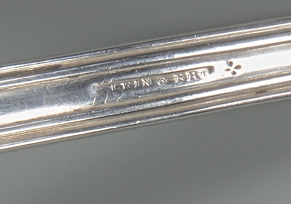 Lot 67: Klein Mississippi coin silver soup ladle