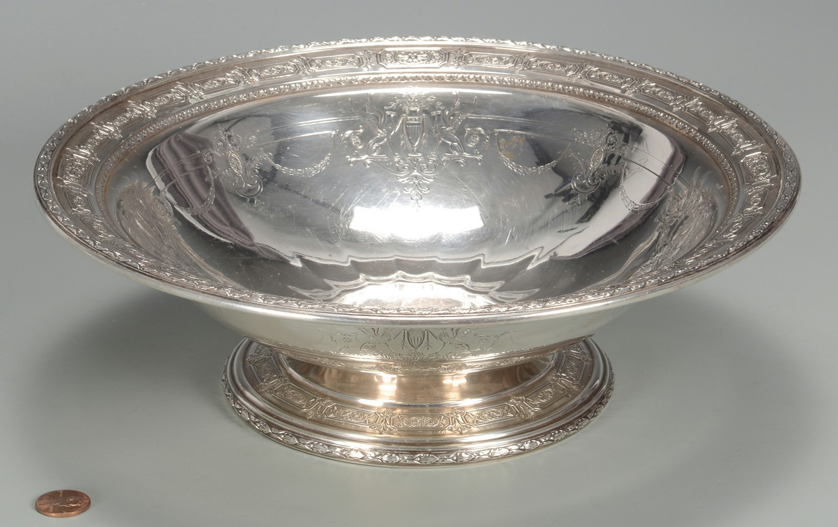 Lot 680: Towle Sterling Neoclassical Bowl