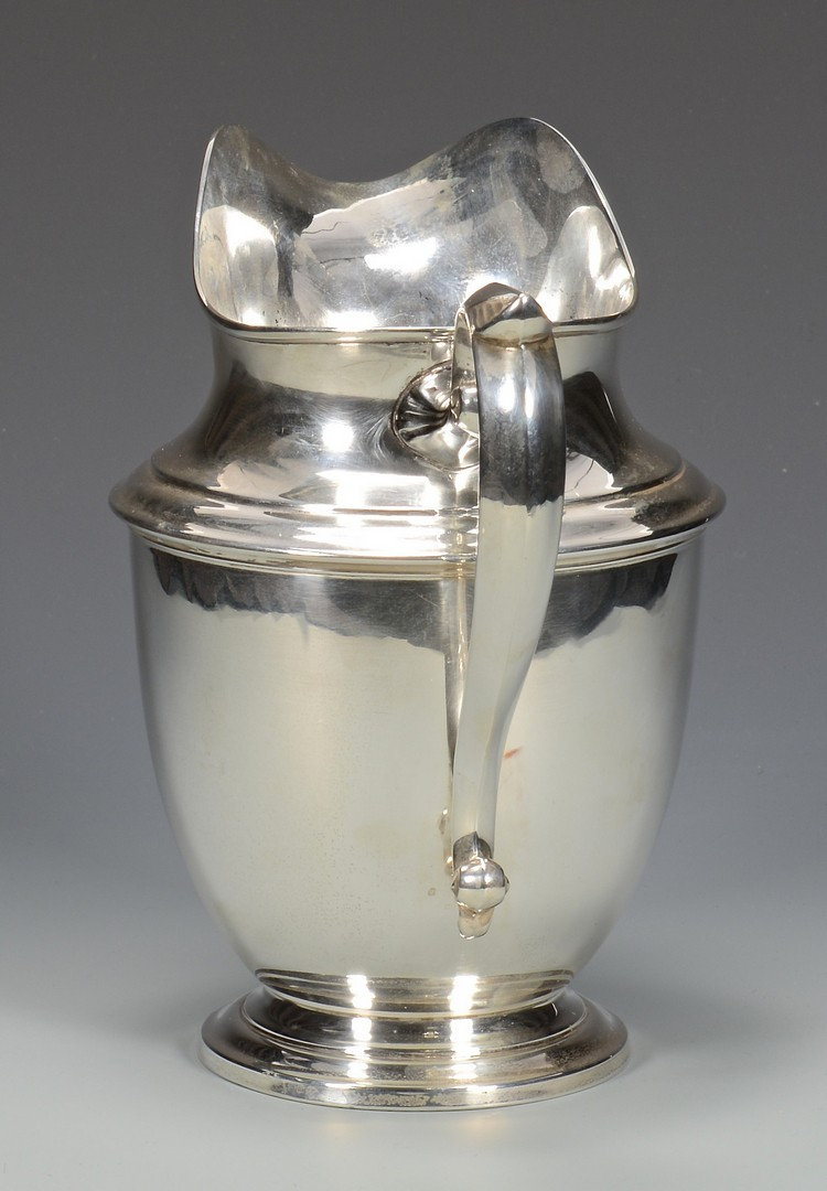 Lot 688: Art Deco Sterling Pitcher