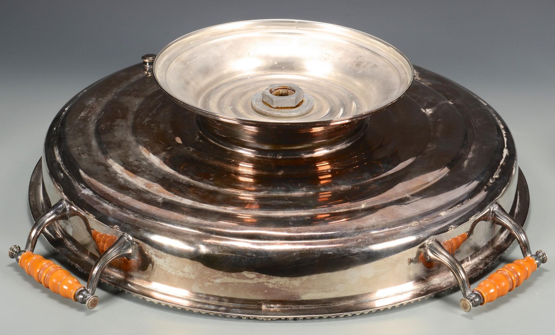 Lot 692: Two Georgian Silverplate Servers