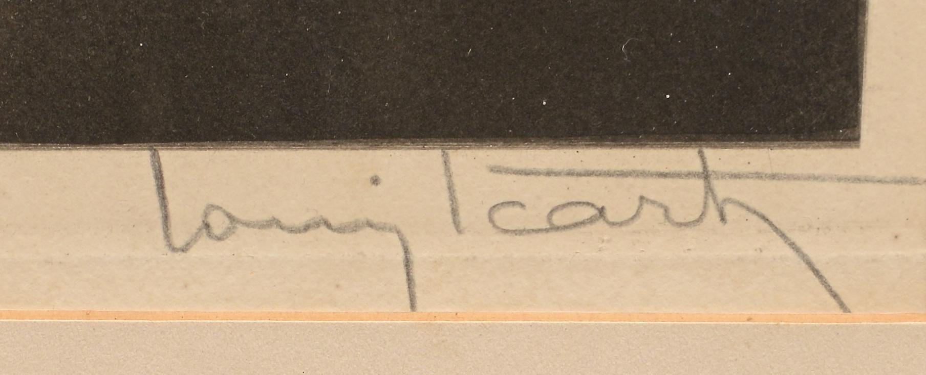 Lot 693: Louis Icart Etching, Lilies