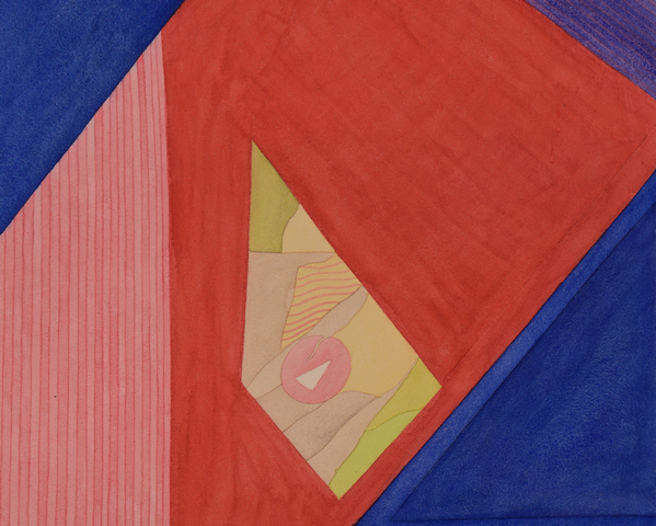 Lot 696: Keith Morrison abstract watercolor