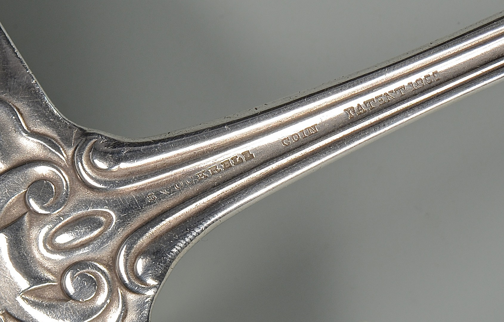 Lot 69: S. Cockrell MS Coin Silver Ladle