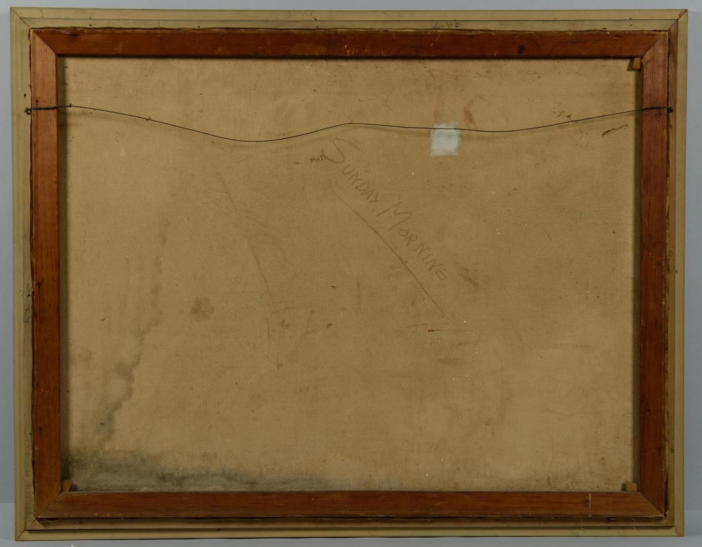 Lot 701: Abstract War Oil, E. Christie