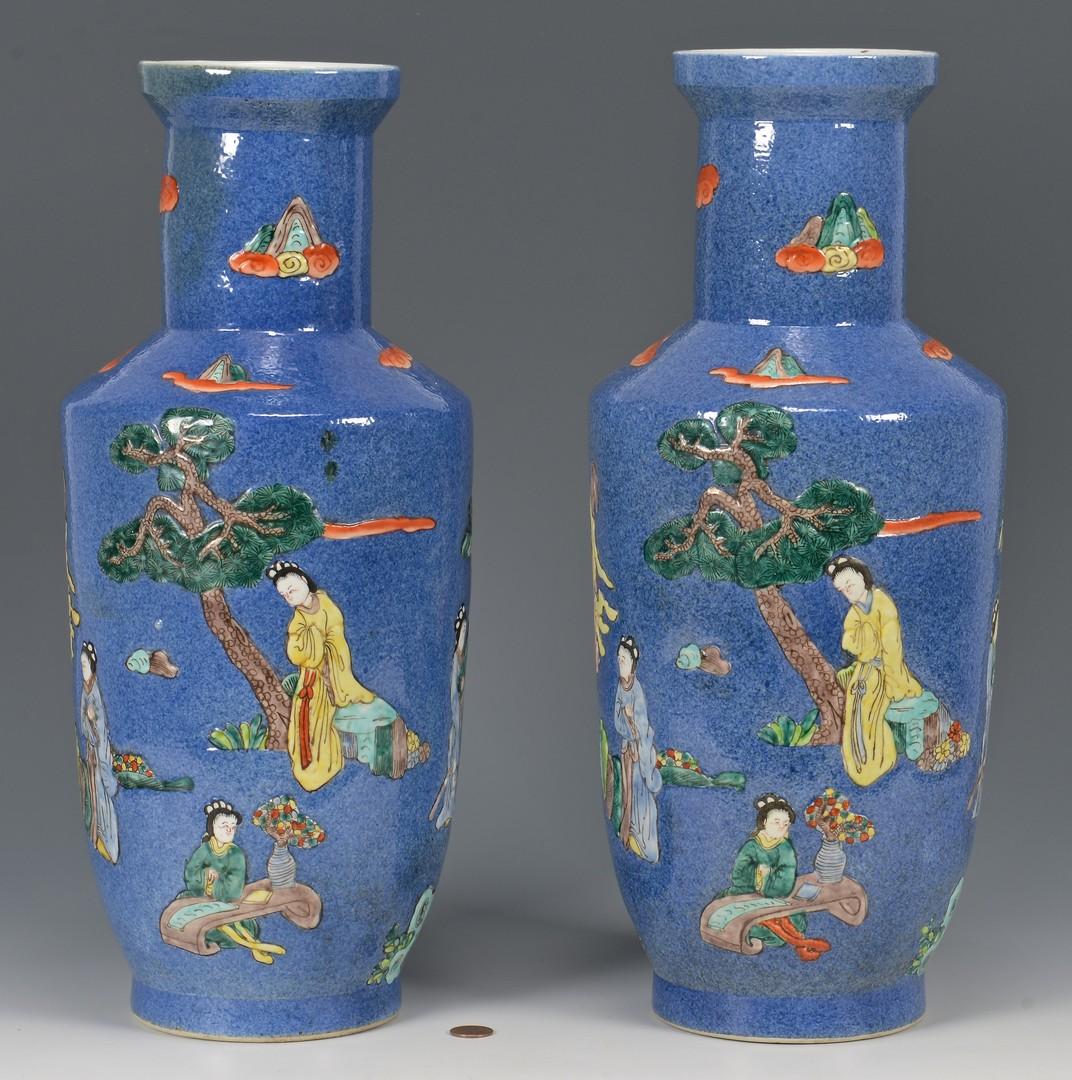 Lot 709: Pr. Chinese Famille Verte Porcelain Vases