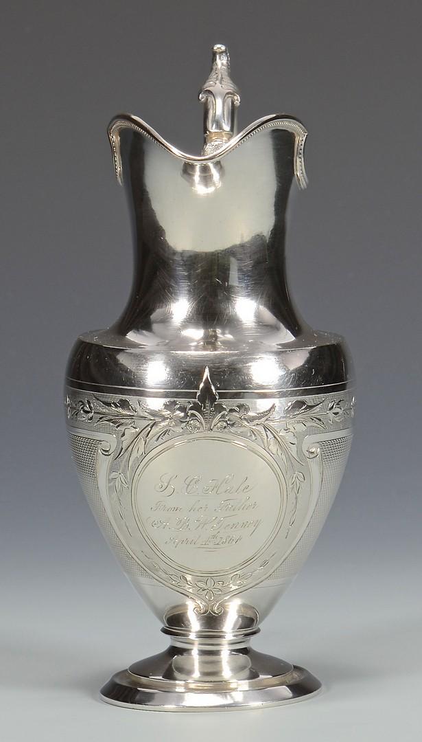 Lot 70: Natchez Coin Silver Cream Jug