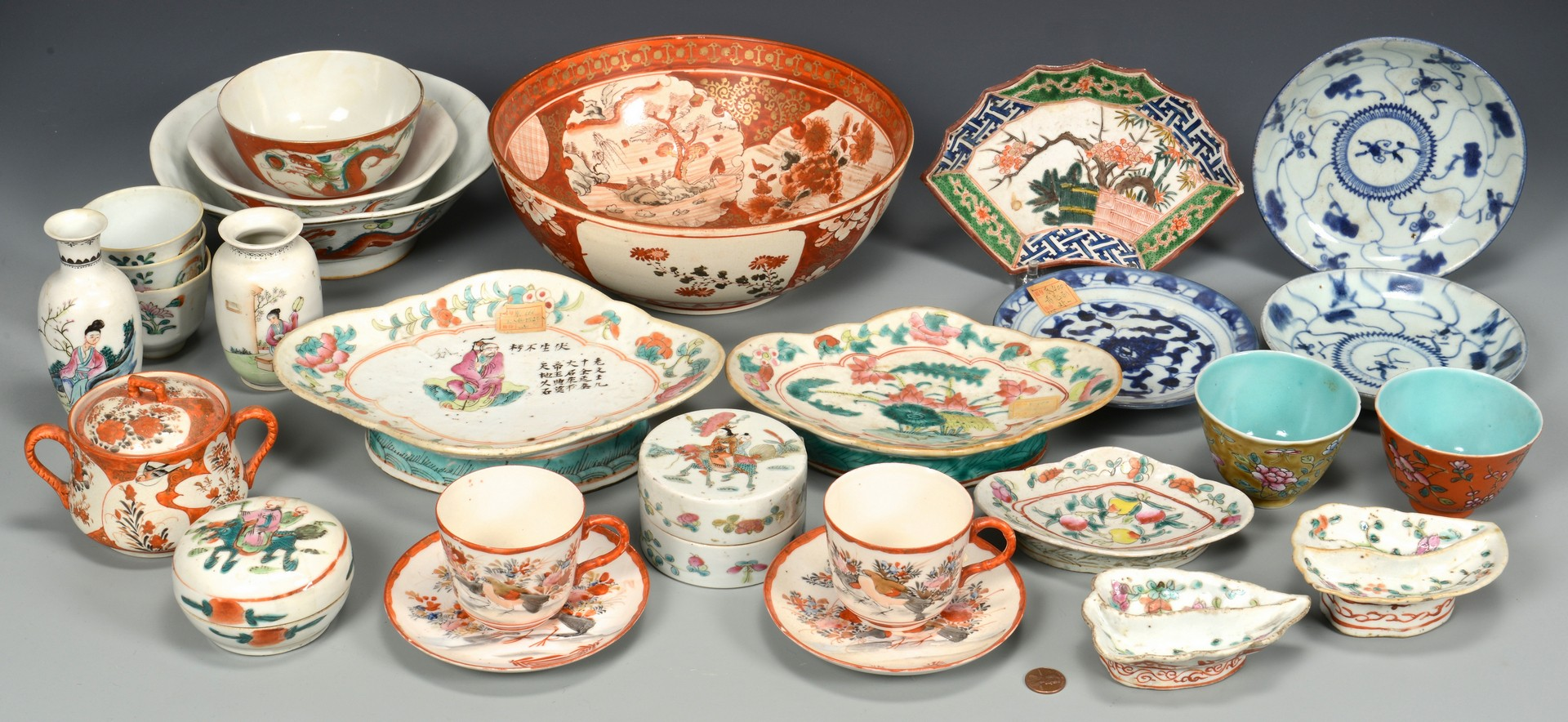 Lot 714: 25 pcs assorted Asian Porcelain