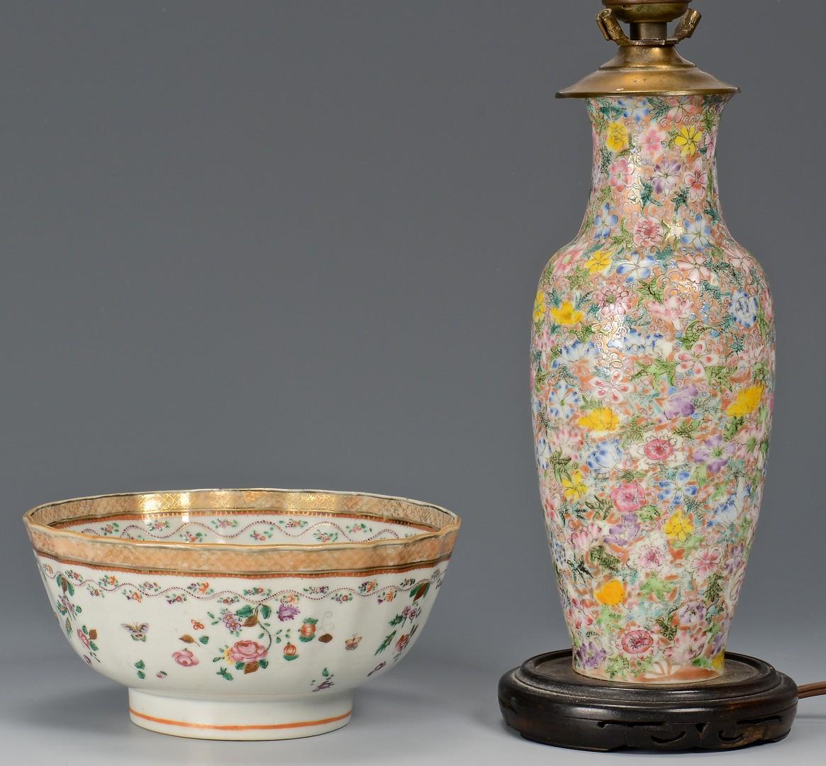 Lot 721: Chinese bowl, vase, and box