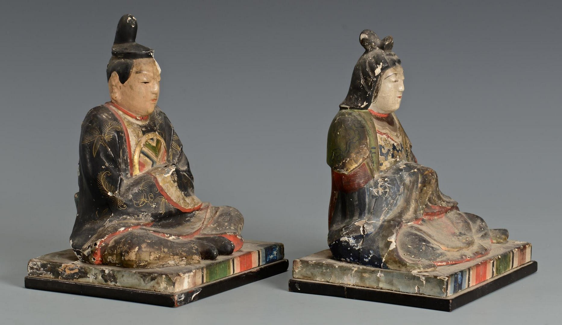 Lot 724: Asian Carved & Painted Items, 5 pcs.