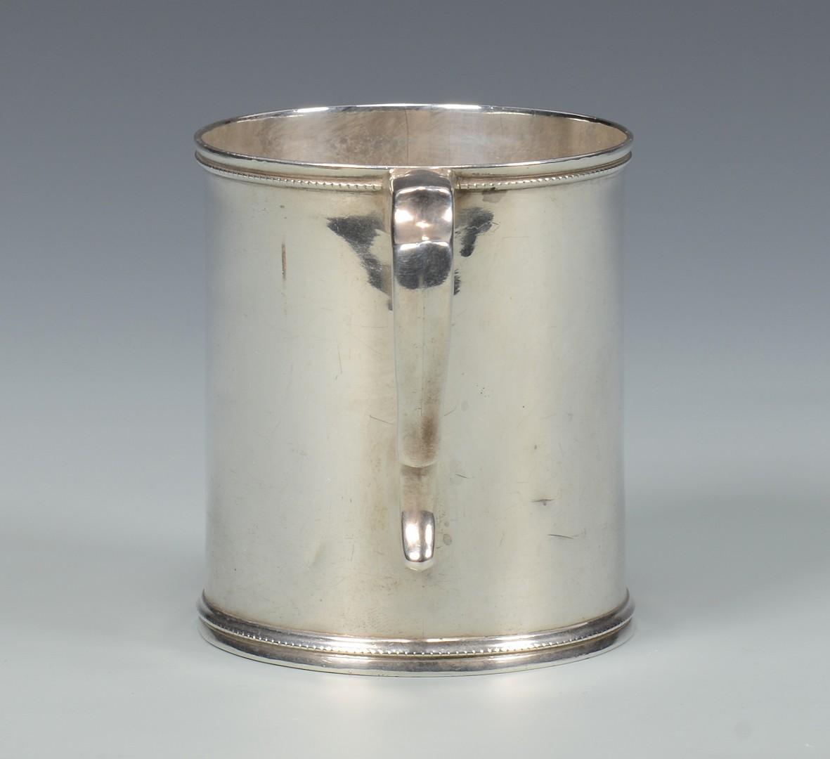 Lot 72: Profilet Natchez Coin Silver Mug