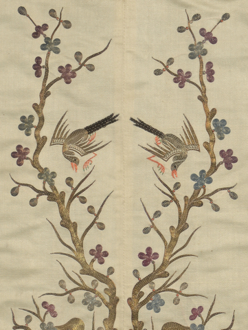 Lot 733: 2 Peking Stitch Embroideries
