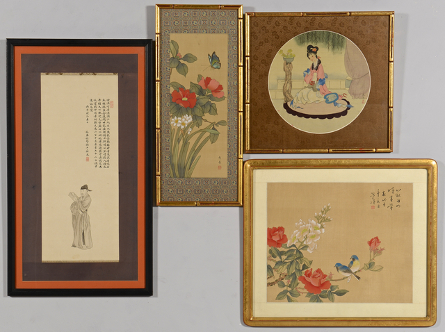 Lot 734: 4 Chinese Paintings