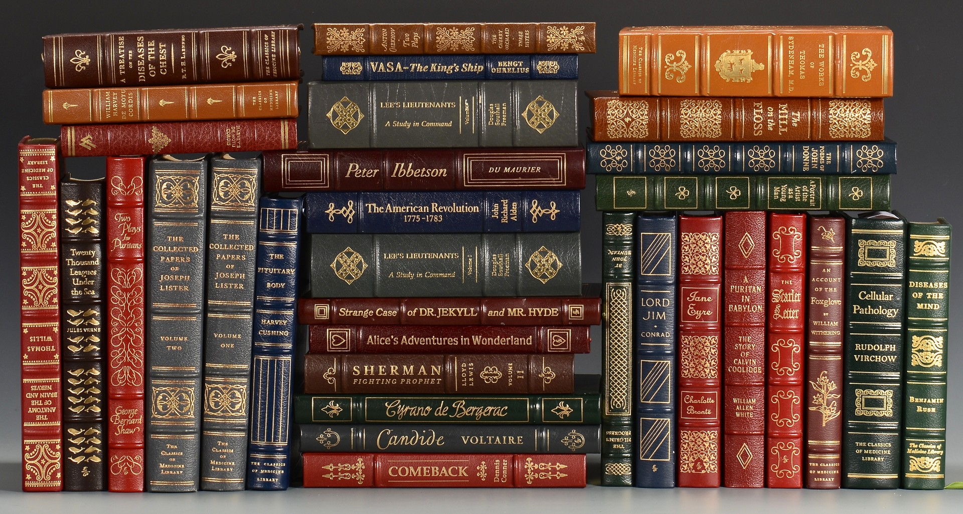 Lot 740: 33 Easton Press Books, incuding Classics of Medicine Library