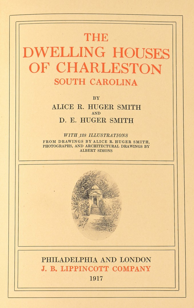 Lot 742: 2 Rare Architecture Books: Charleston, Smithsonian
