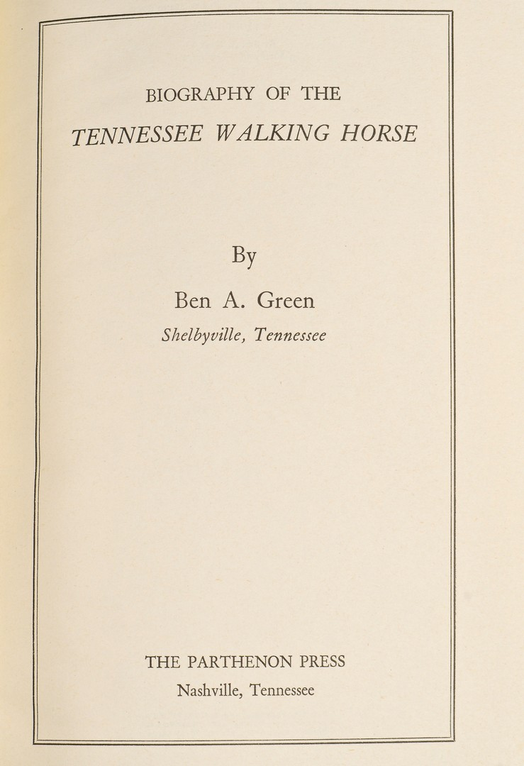 Lot 743: 2 Tennessee Horse books