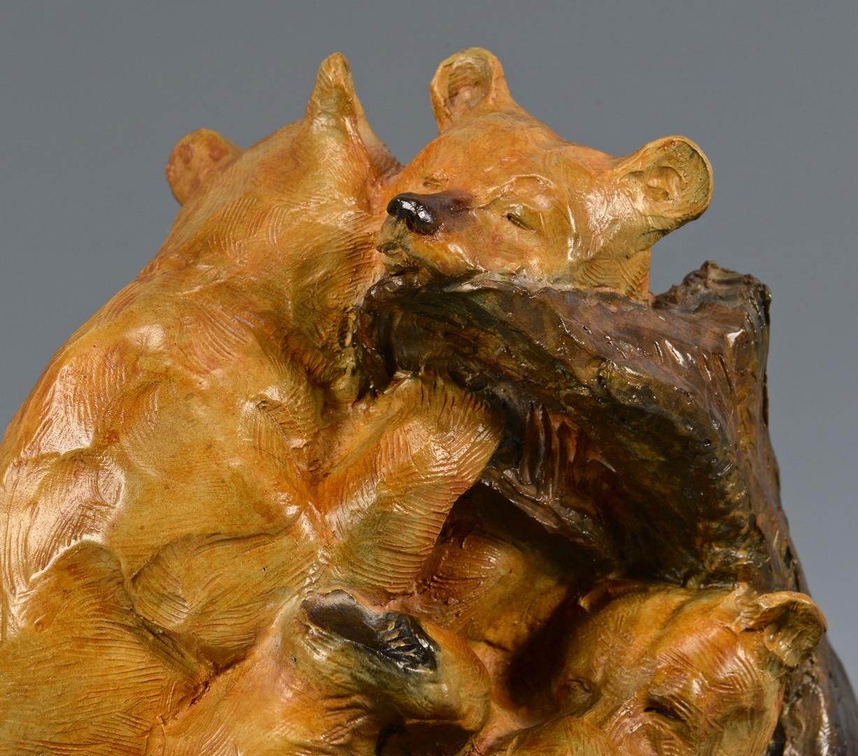 "Lot 748: Walt Horton Bronze Sculpture ""3 Snoozers"""