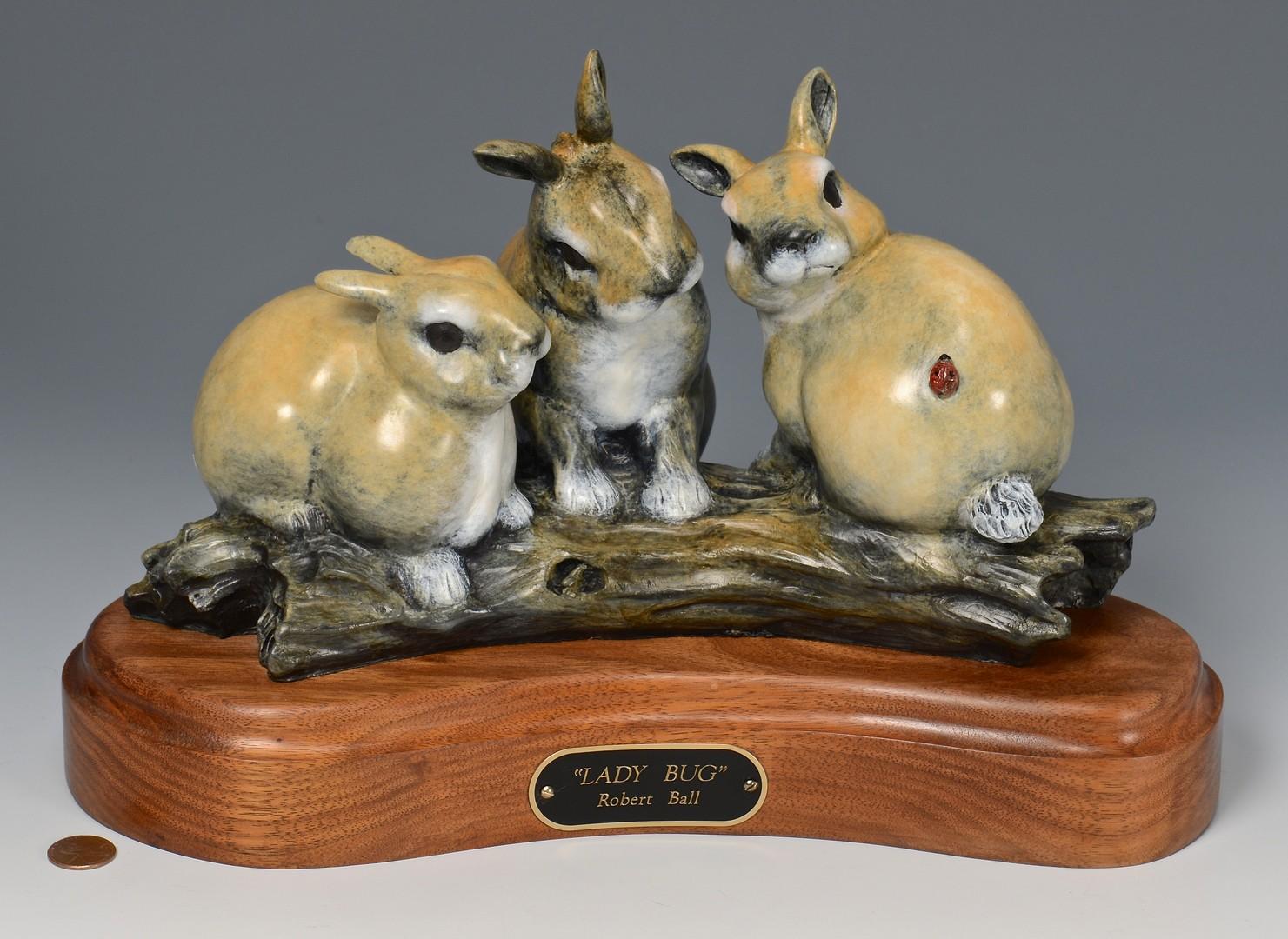 """Lot 749: Robert Ball Bronze Sculpture """"Lady Bug"""""""