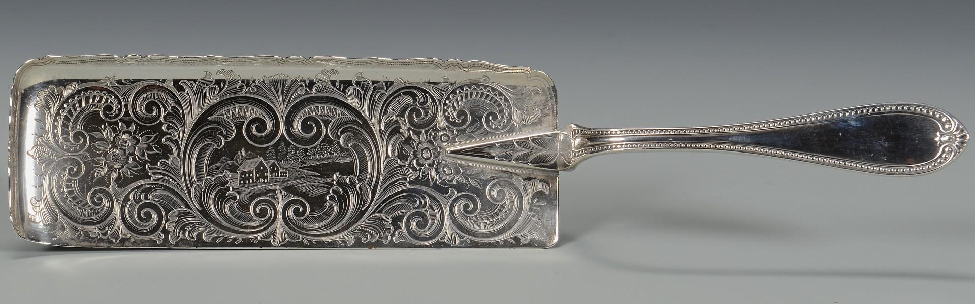Lot 74: McPherson MS Coin Silver Fish Slice