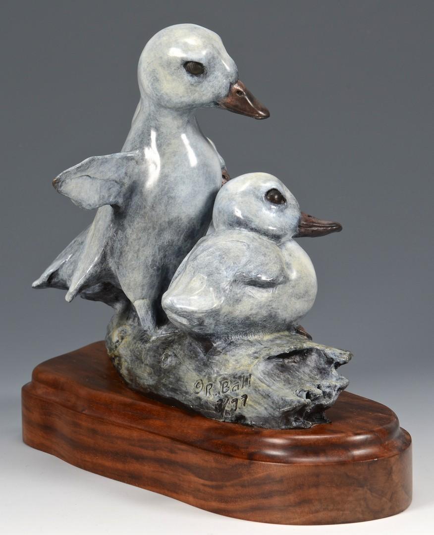 """Lot 750: Robert Ball Bronze Sculpture """"Mighty Ducks"""""""