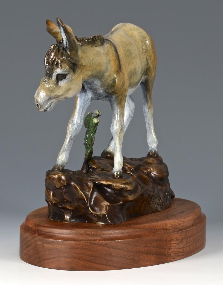 """Lot 751: Rae Ann Ball Bronze Sculpture """"Calamity"""""""