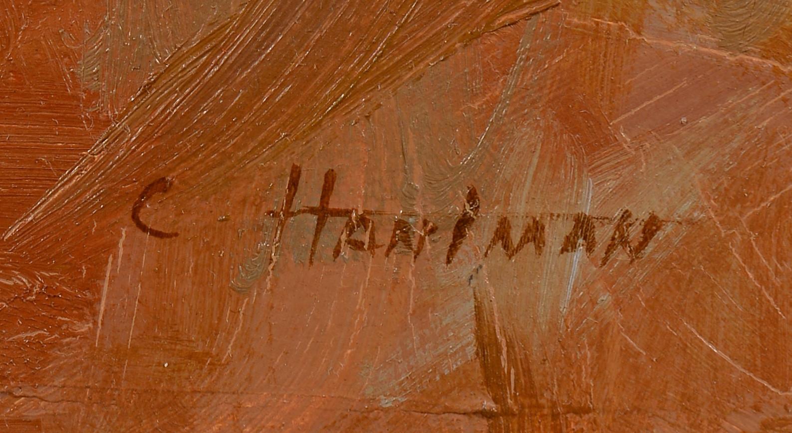 Lot 752: Carl Hantman o/b, Illustration of Cowboy