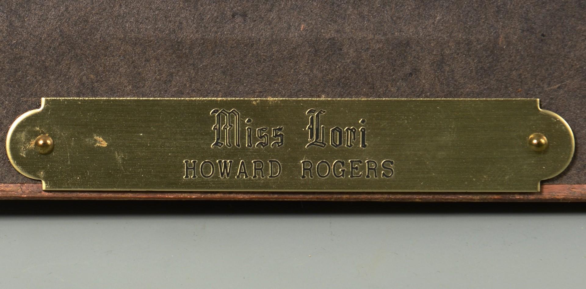 """Lot 754: Howard Rogers o/c, """"Miss Lori"""""""