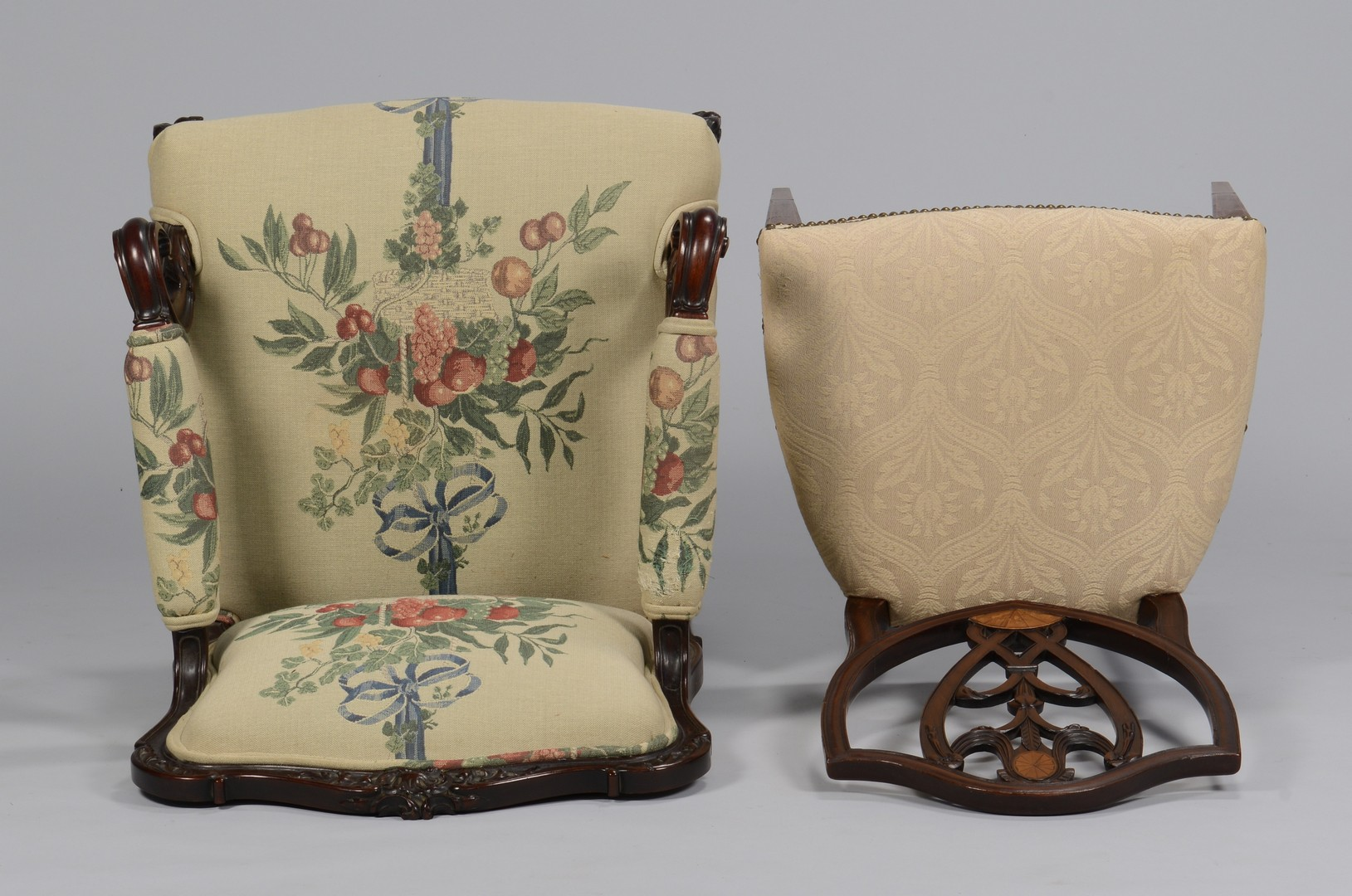 Lot 759: Continental Armchair and Federal Style Side Chair