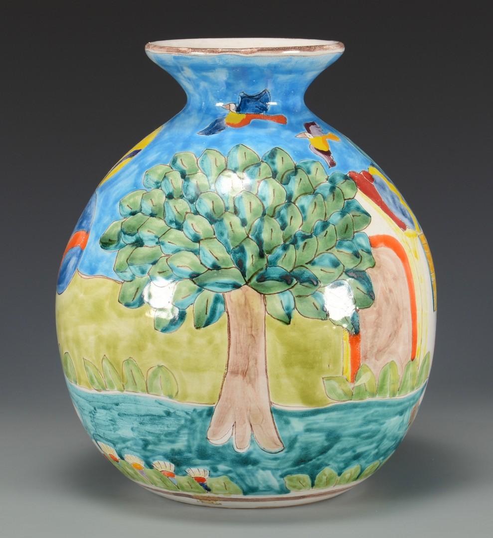 Lot 766: 2 Vases, Large Chinese & Italian Mid-century
