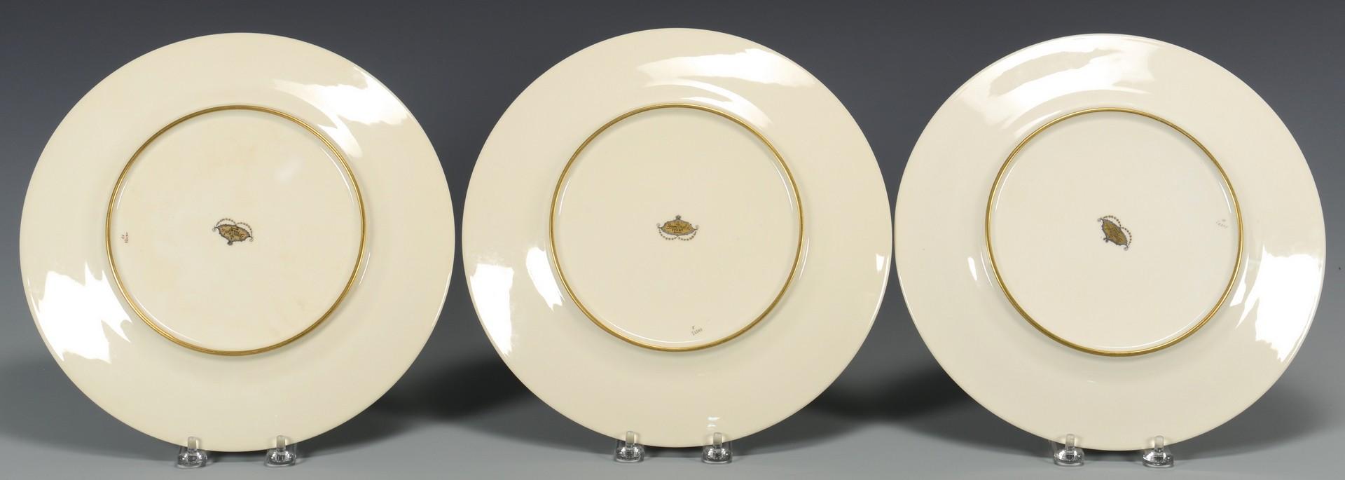 Lot 768: 8 Rosenthal Green, Gilt Dinner Plates