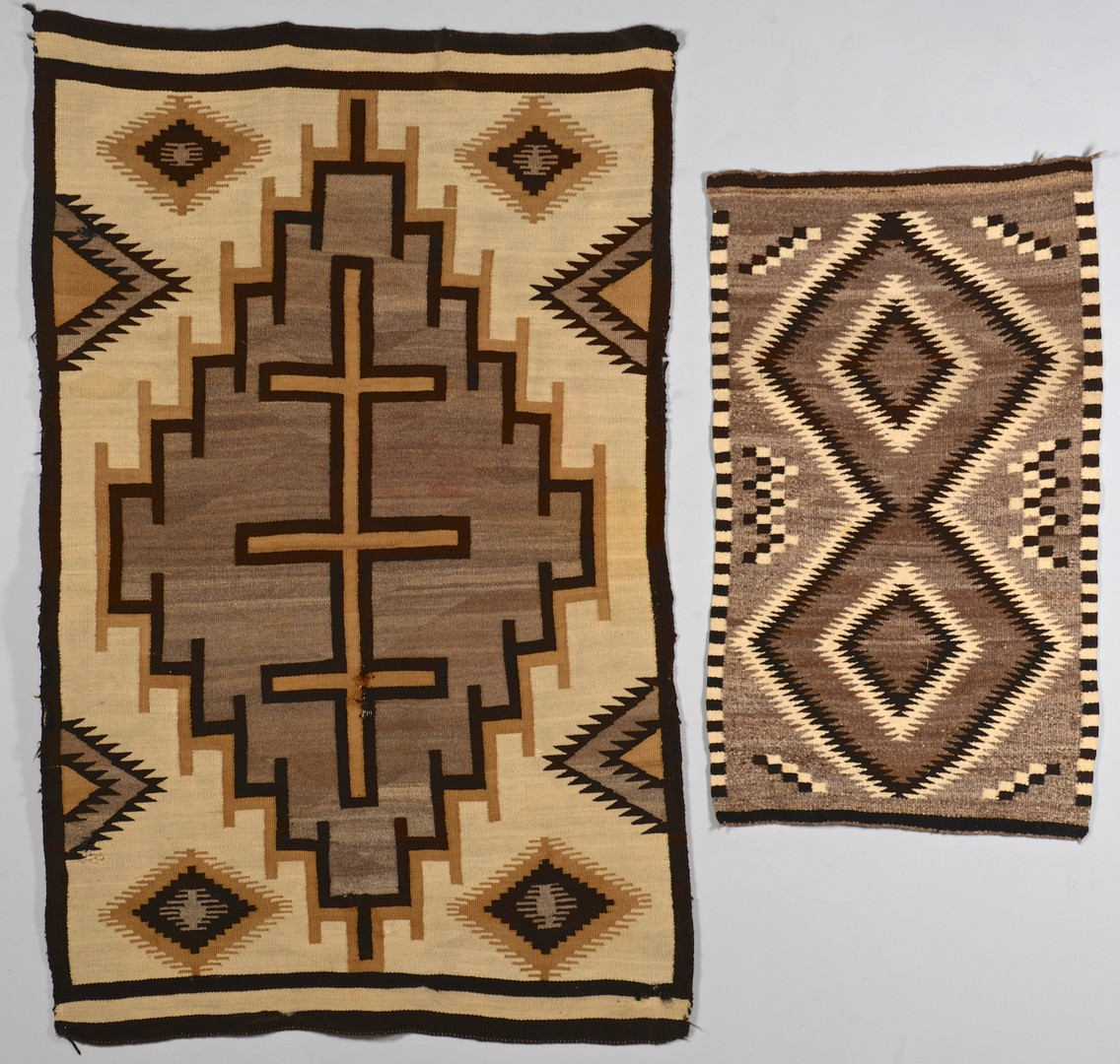 Lot 776: 2 Navajo Rugs, 1 Crystal