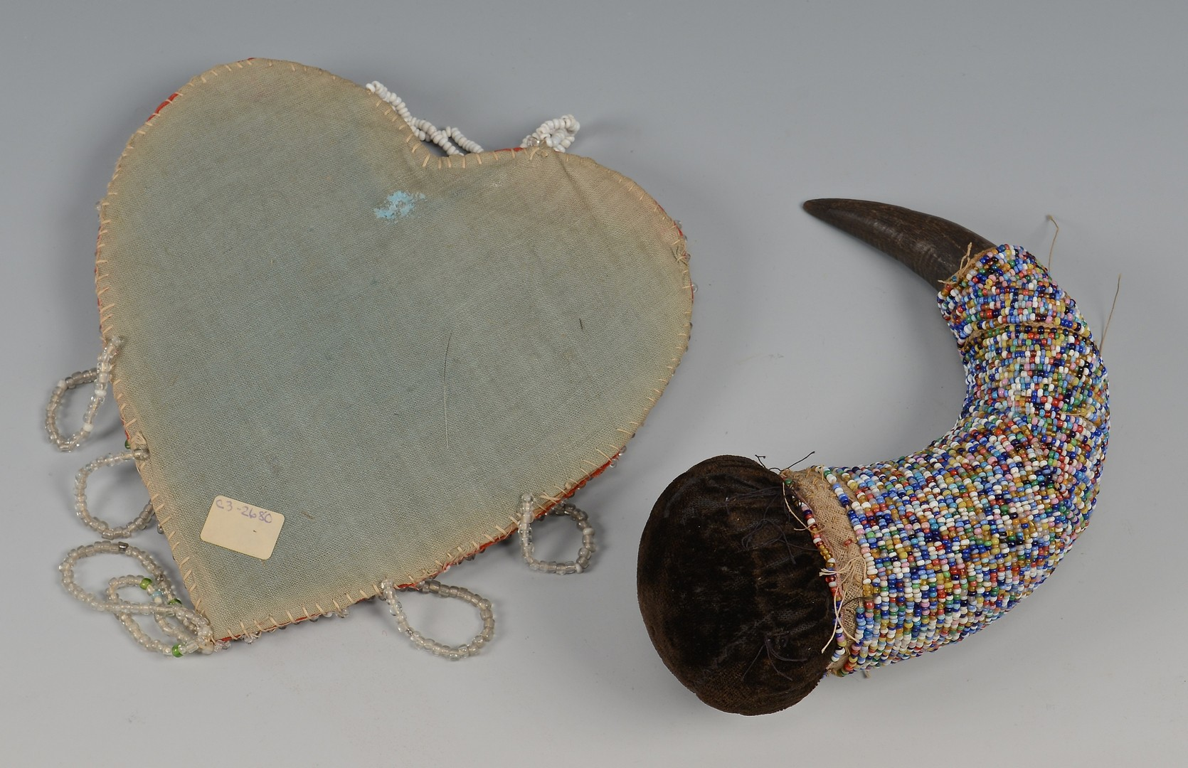 Lot 778: 7 Native American Beaded Items