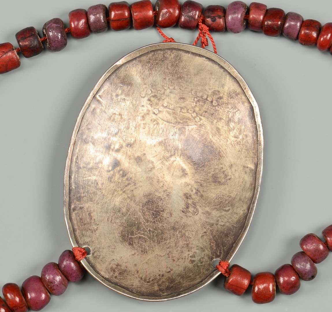 Lot 780: Trade Beads and Silver Gorget
