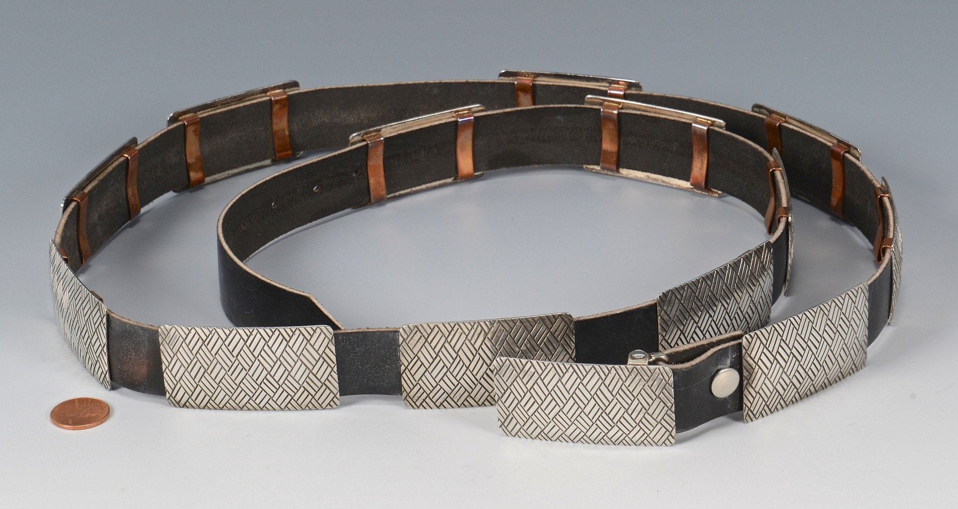 Lot 781: Navajo Sterling & Copper Concho Belt