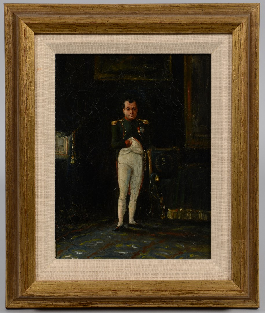 Lot 788: Continental Oil Portrait of Napoleon
